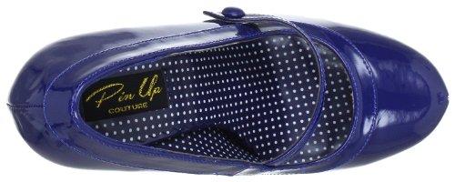 Pleaser EU-CUTIEPIE-02 CUTIE02/NBPT, Scarpe col tacco donna, Blu (Blau (Navy blue pat)), 37