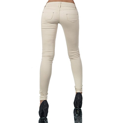 H937 Damen Jeans Hose Hüfthose Damenjeans Hüftjeans Röhrenjeans Röhrenhose Röhre