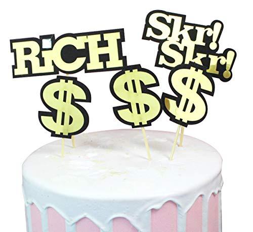 Dollar-Kuchenaufsatz 3er Set Hip-Hop Party Geld Kuchen Toppers Geburtstag Party Dekoration ()
