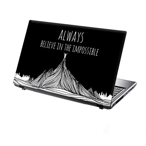 TaylorHe Folie Sticker Skin Vinyl Aufkleber mit bunten Mustern für 13-14 Zoll (34cm x 23,5cm) Laptop Skin glaube an das Unmögliche