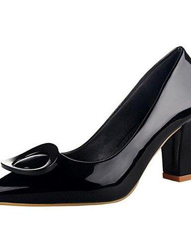 WSS 2016 Chaussures Femme-Habillé / Soirée & Evénement-Noir / Bleu / Rose / Violet / Rouge / Gris-Gros Talon-Talons-Talons-Similicuir red-us5 / eu35 / uk3 / cn34