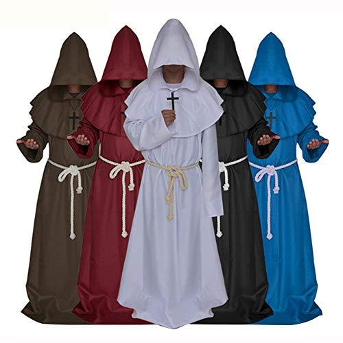 Für Kostüm Mittelalterliche Erwachsenen Mönch - Mittelalterliche Mönch Rolle-Spiel Kostüm Führer Kapuzenmantel Mönch Mönchs Kapelle Kapuzen Kostüm Mann Erwachsene Phantasie
