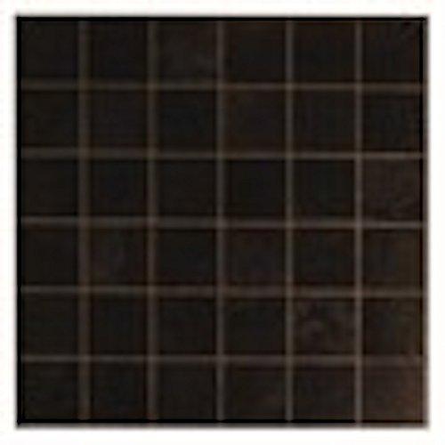 Bodenfliesenzum Aufkleben, selbstklebend, dunkle Vierecke, 4Stück