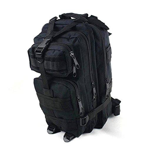 Kry Military Tactical interne Rahmen Rucksäcke leichter Tagesrucksack Wasserdicht Reisen Rucksack für Camping Wandern Klettern Radfahren 30L schwarz - schwarz