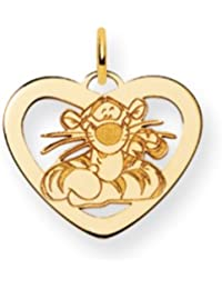 Black Bow Jewellery Company : Disney's Tigger Heart Charm in 14 Karat Gold