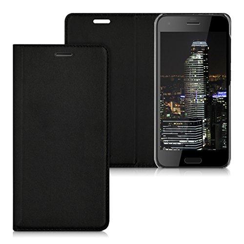 kwmobile HTC One A9s Hülle - Kunstleder Handy Schutzhülle - Flip Cover Case für HTC One A9s