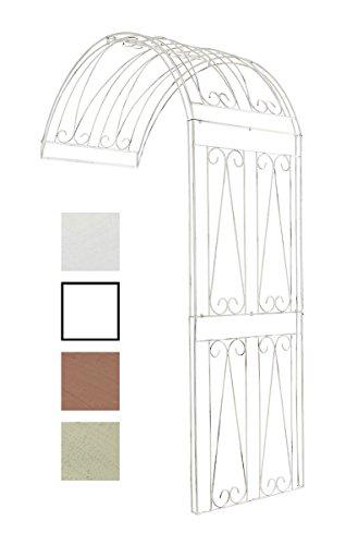 Clp semiarco piante rampicanti riccardo - sostegno piante con fissaggio alla parete i supporto piante esterno in ferro robusto, arco fiori a muro, h 258cm bianco antico 130 x 80 x 258 cm