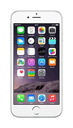 Apple iPhone 6 - Smartphone débloqué 4G (Ecran : 4.7 pouces - 16 Go - iOS 8), Argent - (Reconditionné) [inclut une carte SIM européenne] [Classe énergétique A+++]