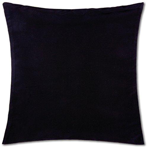 Dekokissen Kissenbezug (Kissenhülle ( 100 Größen und Farben ) mit und ohne Füllkissen, Serie: Ellen, Kissenbezug Dekokissen, Auswahl: 40x40cm mit Füllung schwarz - black)