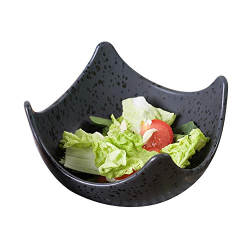 RKY Bol- Bol de nouilles ménagères en céramique bol de salade bol bol japonais créatif en forme de bol de pied carré /-/