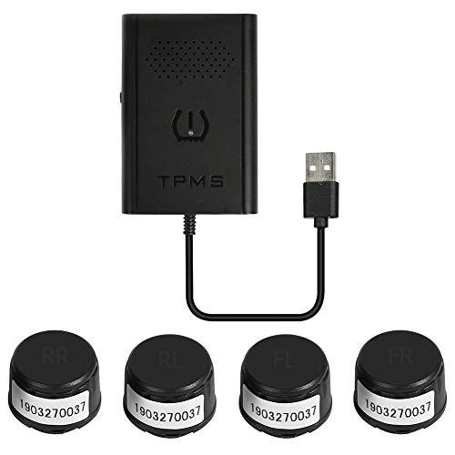 AFFEco USB Android TPMS Sistema di monitoraggio della Pressione Pneumatici per Auto con 4 sensori Est