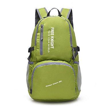 35 L Rucksack Camping & Wandern Klettern Legere Sport Regendicht Staubdicht Multifunktions Atmungsaktiv Green