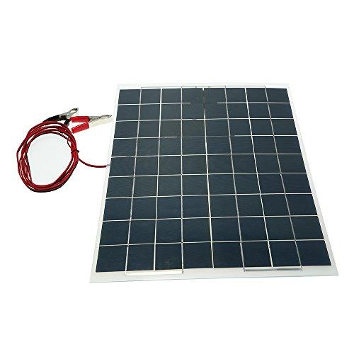 Walmeck 30W 12V Sonnenkollektor Semi Flexible Solar Panel Solarladegeräte Geräte Ladegerät