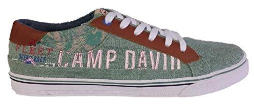 Camp David Herren Sneakers Sehr Bequeme und Elegante dunkelbalu oder Weiss (45, Olive)