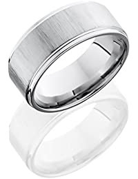 SlipRock Cobalt Chrome, Polished Cross Satin Finish Edged Wedding Band (sz H to Z1)
