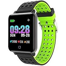 Fitness Tracker con Monitor de Ritmo cardíaco Bluetooth Smartwatch con presión Arterial Tasa de oxígeno Loop