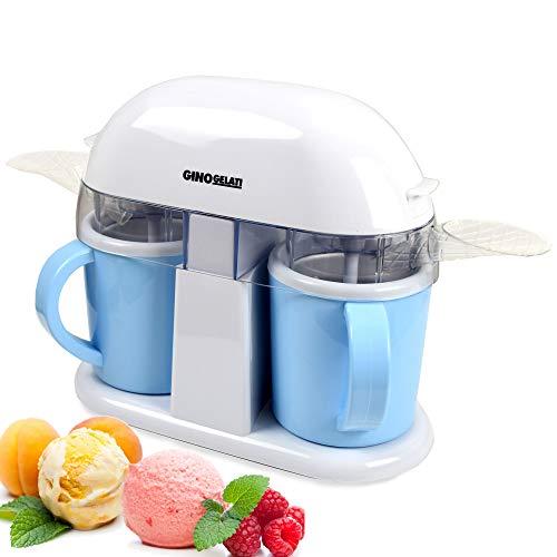 Gino Gelati Eismaschine mit zwei separaten Teilen und 2 Tassen
