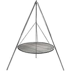 Schwenkgrill Grillrost Edelstahl 80 cm Durchmesser Dreibein 2,10 m verzinkt
