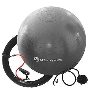 Sportastisch Top¹ Gymnastikball Workout Ball mit Ring, Widerstandsbändern &...