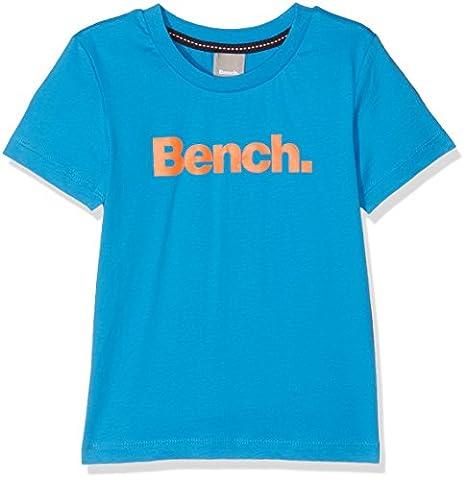 Bench Jungen T-Shirt Corp Tee Blau (Mid Blue BL164), 116 (Herstellergröße: 5-6)