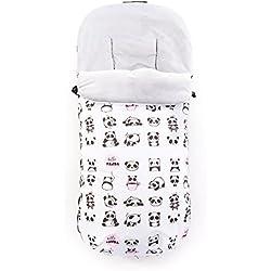 Saco universal abrigo impermeable polar invierno silla de paseo carrito coche bebé Varios Modelos Fabricados en España (Happy Pandas)