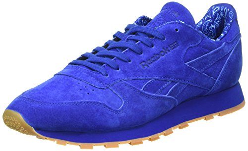 Reebok Cl Leather Tdc, Scarpe da Corsa Uomo Blu (Collegiate Royal/White)