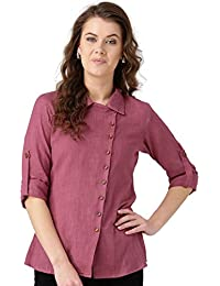 Desi Fusion Women's Regular Fit Cotton Shirt