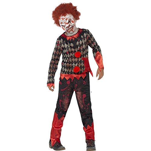 Halloween Kinder Kostüm Zombie Horror Clown Gr.10 bis 12 (12 Für Kostüme Kinder 10 Halloween)