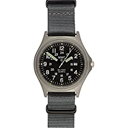 MWC G10BH 12/24 50m Water Resistant Military Watch with Battery Hatch