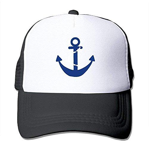 shtseresj Blue Anchor Kids Custom Snapback One Size Fits Most Dancing Mesh Cap Adjustable Custom-fit-mesh-cap