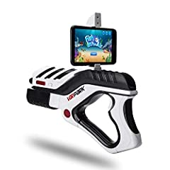 Idea Regalo - Pistola da Giochi Virtuali AR Game Gun, CompraFun Bluetooth Virtual Game Gun Giocattolo per Telefoni Android e IOS, 360 °AR Game Controller, Regalo Ideale per Bambini di 6-15 Anni