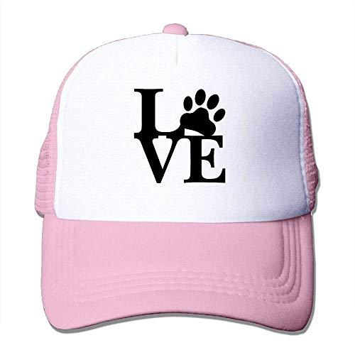 Hoswee Unisex Kappe/Baseballkappe, Men's Mesh Back Trucker Cap Love Paw Air Mesh Polyester Cap -