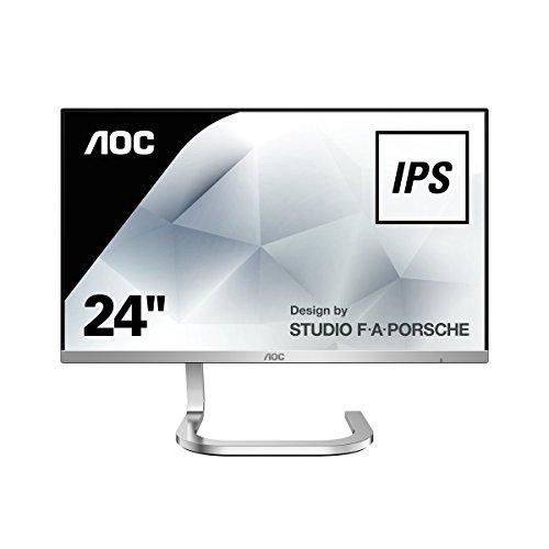 AOC PDS241 23.8-Inch 1920 x 1080 Porsche Design Widescreen IPS LED Monitor - Silver