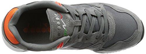 Diadora , Baskets pour homme Multicolore Multicolore Grigio Acciaio / Arancio Vermigl