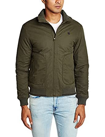 Lee Men's Cotton Jacket (8907222308650_LEJK1179_XX-Large_Forest Green)