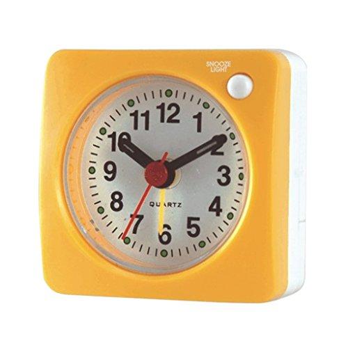 Den Digital-uhr Händen Mit (Homyl Mini Funk-Uhr mit Alarm - Gelb)