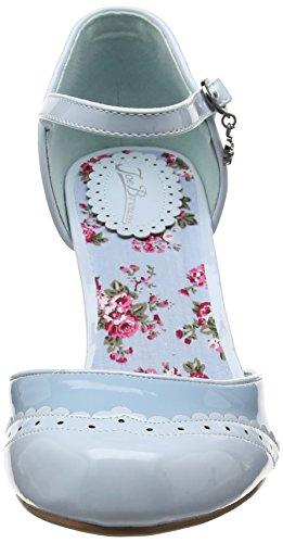 Joe Browns 42nd St Patent Shoes, Scarpe con Cinturino Alla Caviglia Donna Blue (Blue)