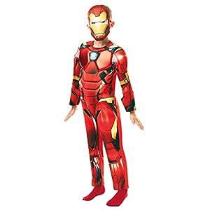 Rubie's 640830M Marvel Avengers Iron Man Deluxe Child Costume, Boys, 5/6 years