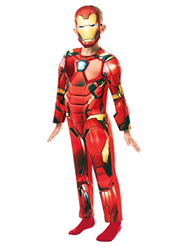 izielles Marvel Avengers Iron Man Deluxe Kind costume-large Alter 7-8, Höhe 128 cm, Jungen, one size ()