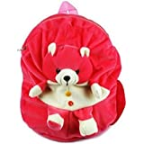 JBTLT ENTERPRISES Soft Toy School Bag For For Kids, Travelling Bag, Carry Bag, Picnic Bag, Teddy Bag (Pink Bear)