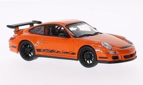 Porsche 997 GT3 RS, Felgen u. Streifen schwarz, orange, Modellauto, Fertigmodell, Lucky Die Cast 1:43 - Felgen Porsche 997