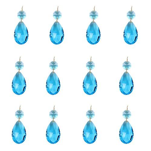 u Kristall Teardrop Träne Kronleuchter Prisms Anhänger Glass Glasperle Teile Perlen Stränge DIY Decken Leuchte Zubehör Sonnenfänger ()