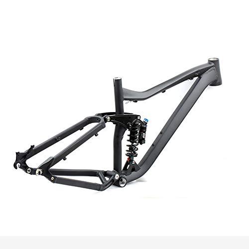Fahrradrahmen aus Aluminiumlegierung mit Vollfederung, Stoßdämpfung und Stabilität, sicher und langlebig, für die meisten Bereiche der Mittelachse des Marktes