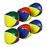 Relaxdays 6 x Jonglierbälle, Profis & Anfänger, Juggling Balls weich, Kinder & Erwachsene, Jonglierset, Juggle Balls Ø 6 cm, bunt