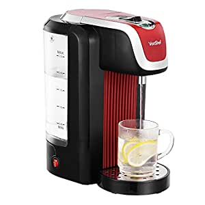 VonShef Instant Red Hot Water Dispenser Kettle 2.5 Litre Capacity, Maximum 2600W
