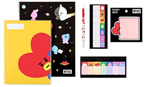 BTS Stationery Sets (Taehyung_Tata) BTS Notes Sticky Tabs Ball Point Pen Sticky Note All in One