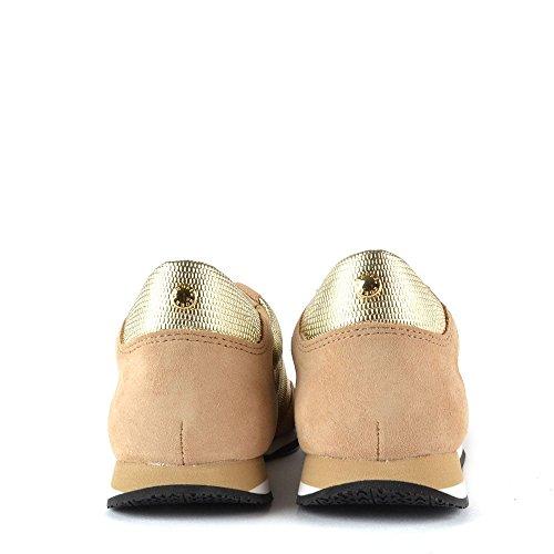 MICHAEL by Michael Kors Chaussures Stanton Baskets Or en Daim, Femme Or