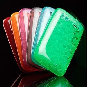 ORIGINAL iProtect HTC Sensation Dual-Circle Silicon Tasche Hülle / Sensation Schutzhülle TPU grün