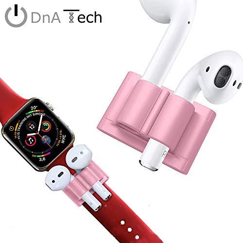 Halterung für AirPods & Apple Watch Armband by DnA Tech® | Geschmeidiges Silikon - Anti-Lost-Holder | Ideal beim Sport oder in der Freizeit