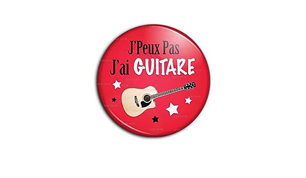 Porte-Cl/és M/étal JPeux Pas JAi Basse Humour Excuse Alibi Id/ée Cadeau Guitare Electrique Instrument Musique